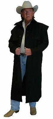 NEW WESTERN COWBOY CAPED DUSTER  SADDLE COAT