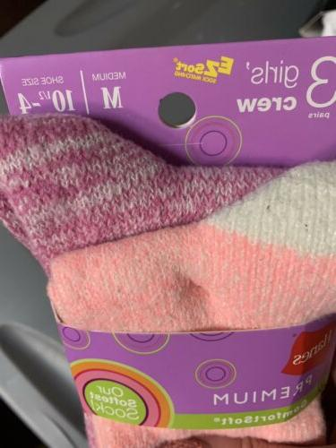NWT Girls Ezsort Socks Medium 10