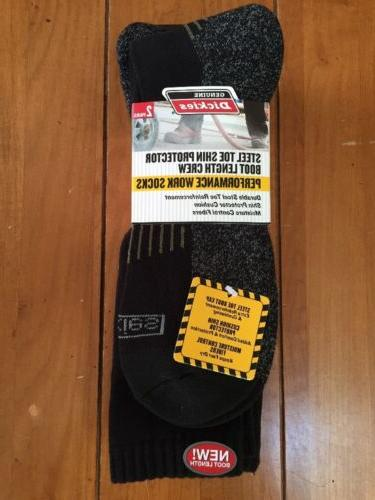 New NWT Pair Of 2 Dickies Premium Steel Toe Boot Length Work