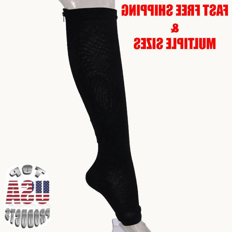 Open Zippered Socks Calf Men