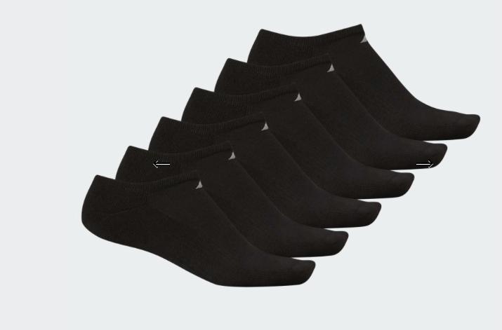 Adidas Originals MEN'S TRAINING ATHLETIC NO SHOW 6 Black