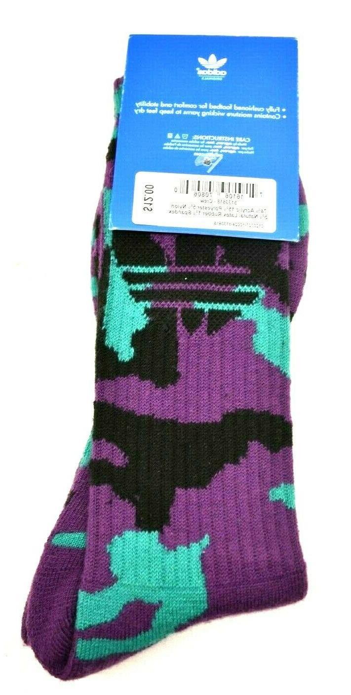 Adidas Originals Socks Purple/Black Men's Shoe 6-12 FREE SHIPPING
