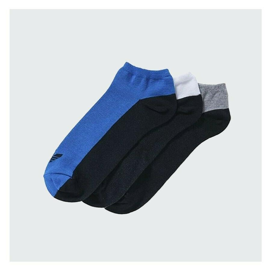 adidas Unisex Black Grey Blue 3 Pairs S20275