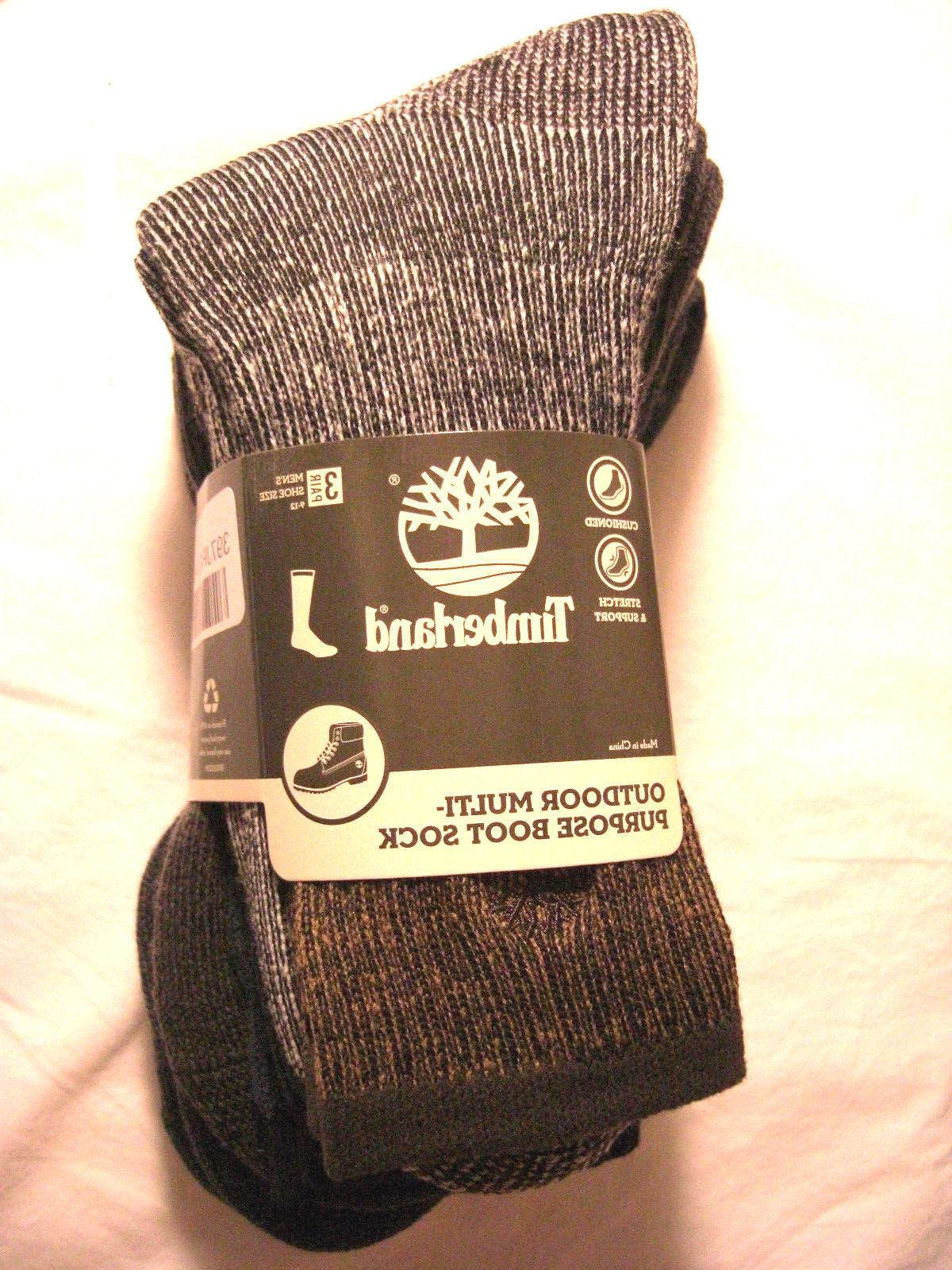Timberland Outdoor Multi-Purpose Boots Socks 3 Pairs Men's S