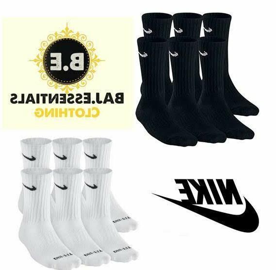 performance 6 pair crew socks cotton cushioned