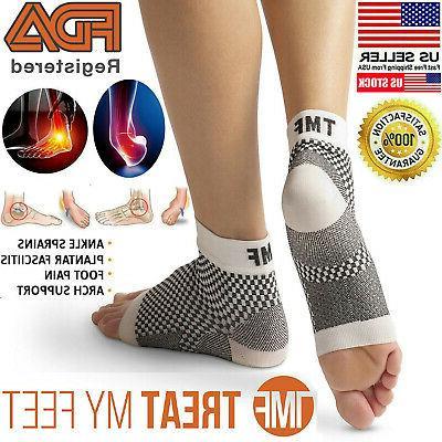 Plantar Fasciitis Compression Socks Ankle Brace Support Foot