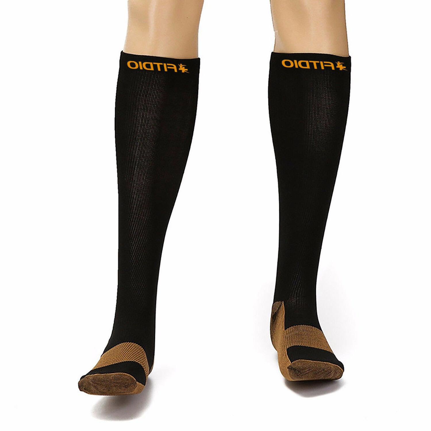 Plus Size Knee High Anti-Fatigation Infused Compression Socks