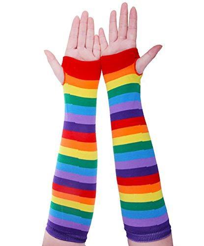 Chalier Womens Rainbow Knee Thigh 2 Pairs One