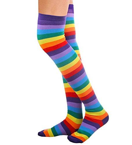 Chalier Womens Knee High Socks Arm Fingerless 2 One