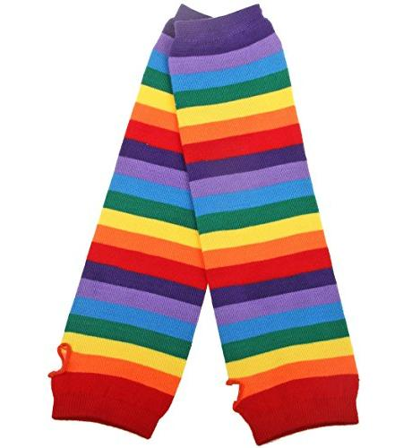 Chalier Rainbow Knee Thigh Arm Warmer 2 Pairs