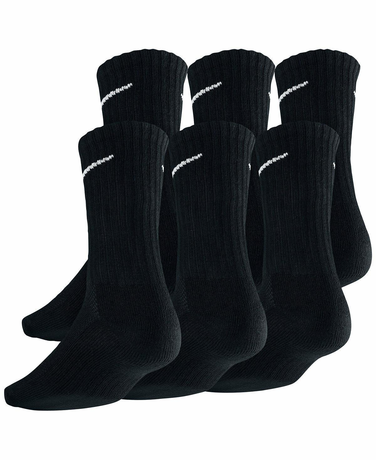 SALE Nike Fit Dry Fit Black/White Crew Socks 3 6 Large