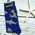 Shark Attack Crew Socks New Pair Joe Boxer Men Novelty Gift