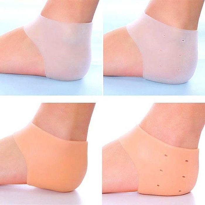 silicone foot care moisturizing gel heel socks
