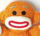 Sock Monkey Baby Plush Stuffed Animal - Gingerbread -Schylli