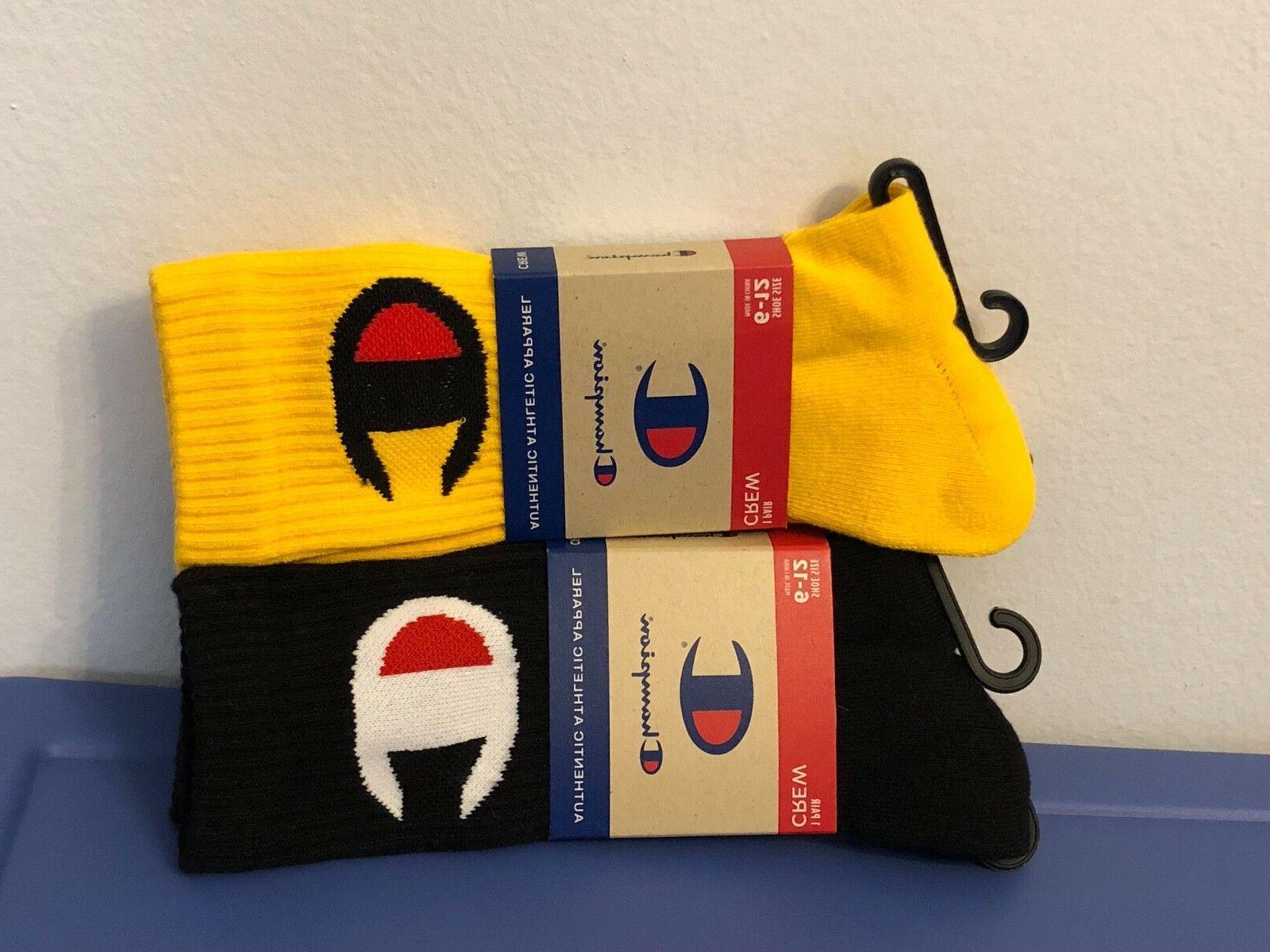 socks mens crew black and yellow