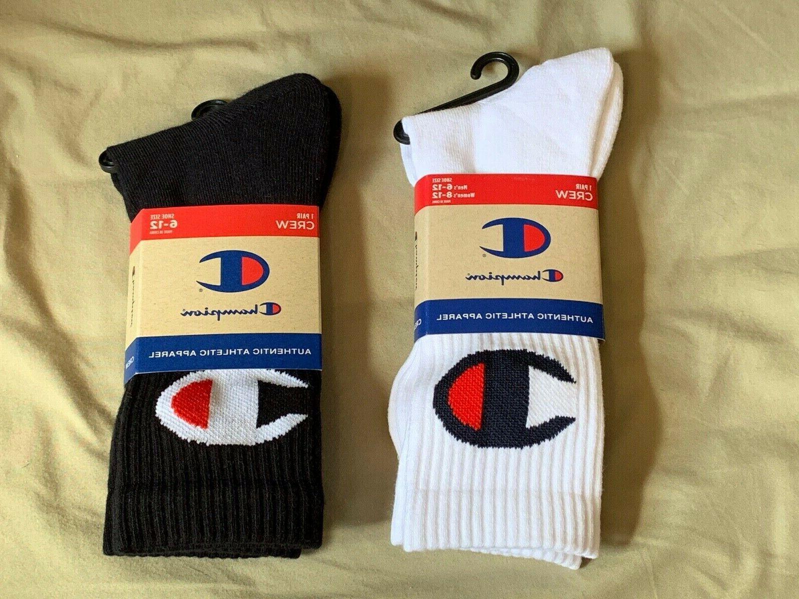 socks mens crew black white