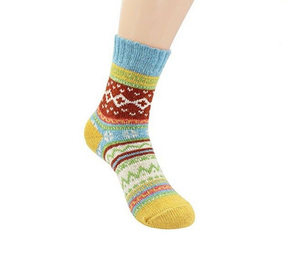 5 Pairs Womens Knitting Wool