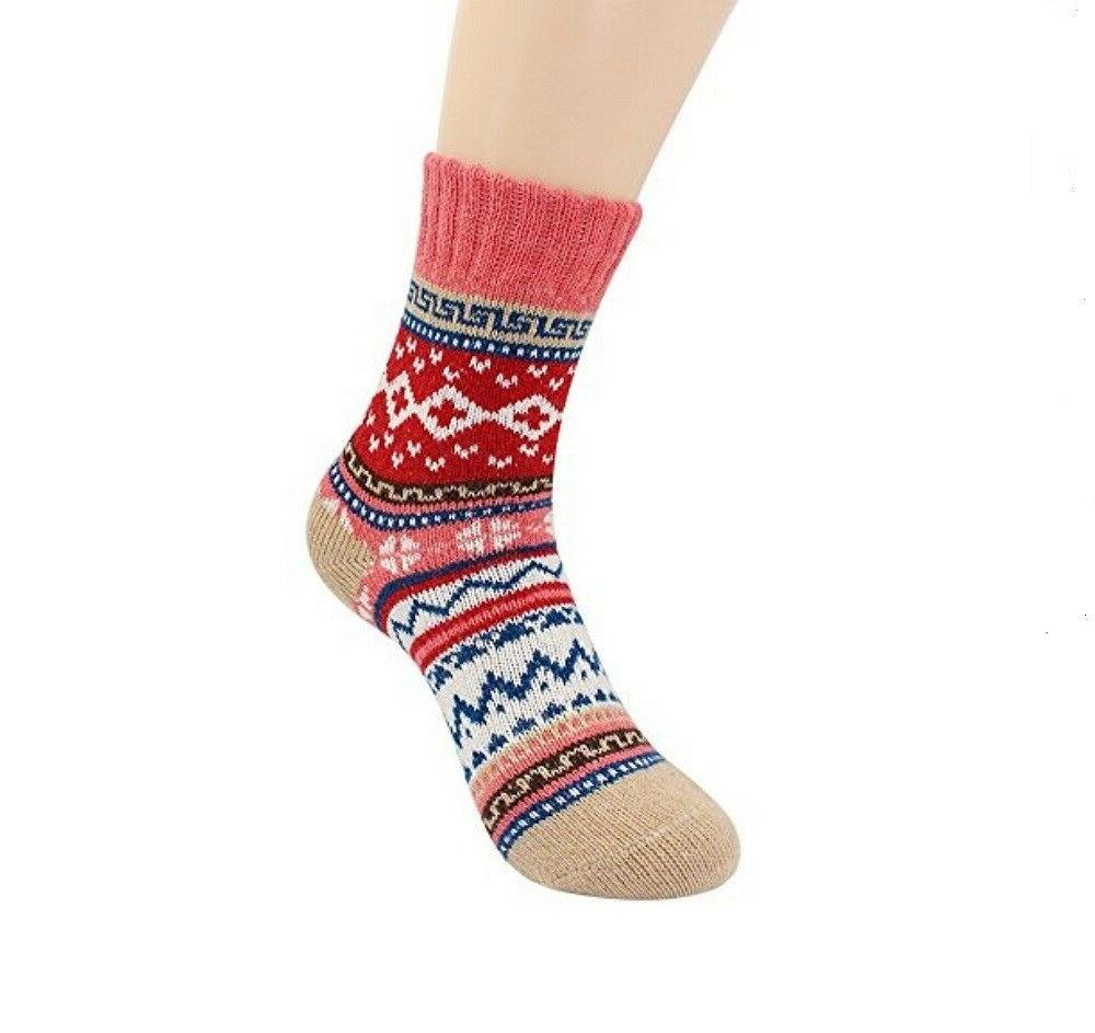5 Socks Vintage Style Knitting Warm