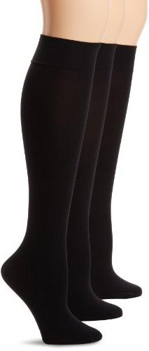 HUE Women's Soft Opaque Knee High Socks ,Navy,1