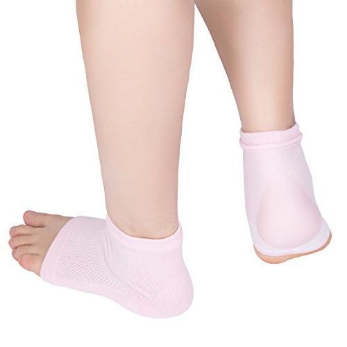 Bememo Soft Heel Socks for Cracked Skin Night Pairs