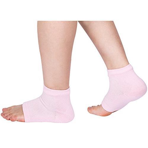 Bememo Soft Ventilate Heel Socks Socks for Hard Cracked Skin Moisturizing Day Night Pairs