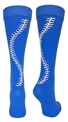 MadSportsStuff Softball Socks with Stitches Over The Calf Ro
