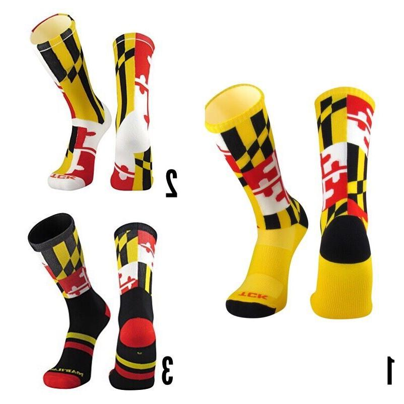 TCK® Elite Maryland Flag 2.0 3.0 Crew Socks Twin City All s