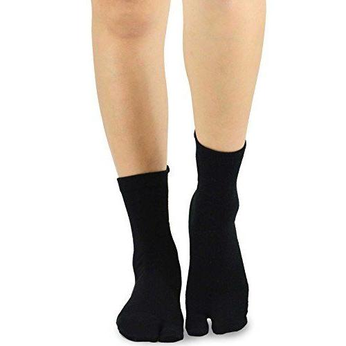 TeeHee Flop Big Toe Socks 3-Pairs Pack Black White Grey