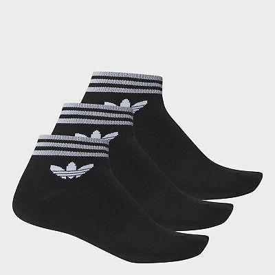 trefoil ankle socks 3 pairs men s