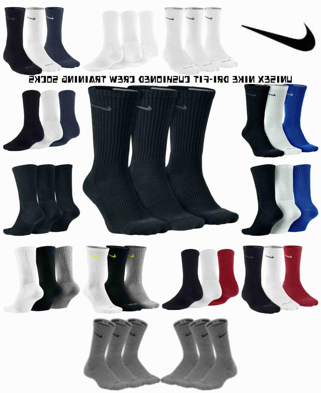 unisex dri fit cushion crew socks 3