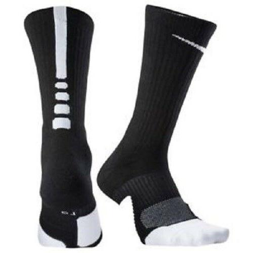 NIKE Unisex Elite 1.5 Crew Basketball Socks 1 Pair, Small Wo