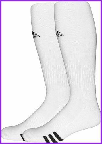 adidas Unisex Rivalry Soccer OTC Socks , White/Black, Large