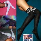 US Women Sexy Diamond Thigh High Long Stockings Fashion Knit