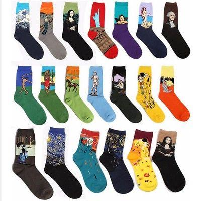 USA Mens Cotton Socks Warm Fancy Crew Fashion Design Casual
