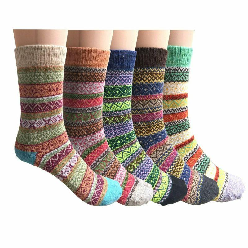 Vintage Winter Warm Socks, Loritta Women's Pairs FREE