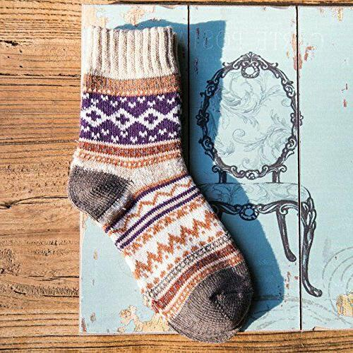 Thick Knit Wool Cozy Crew Pairs