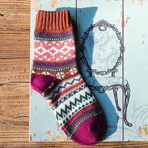 Vintage Winter Crew Socks Loritta Pairs