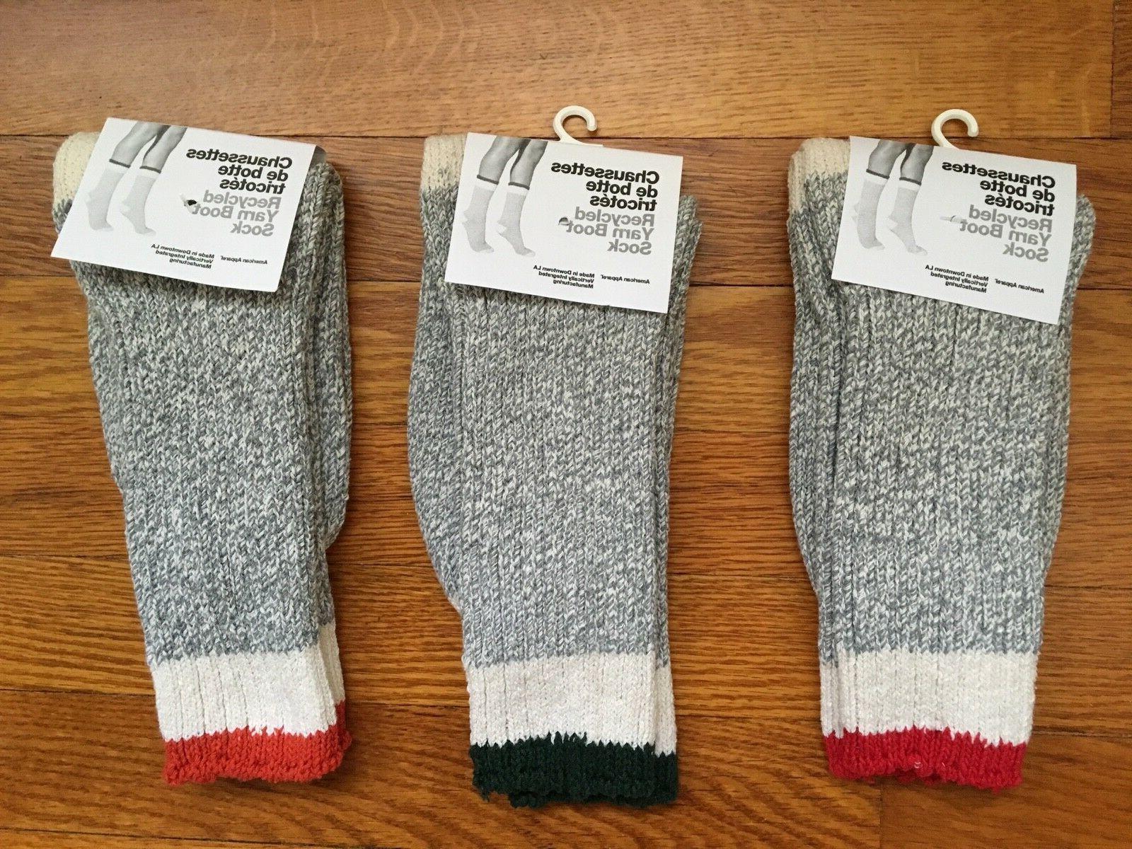 vtg recycled yarn boot rag sock choice