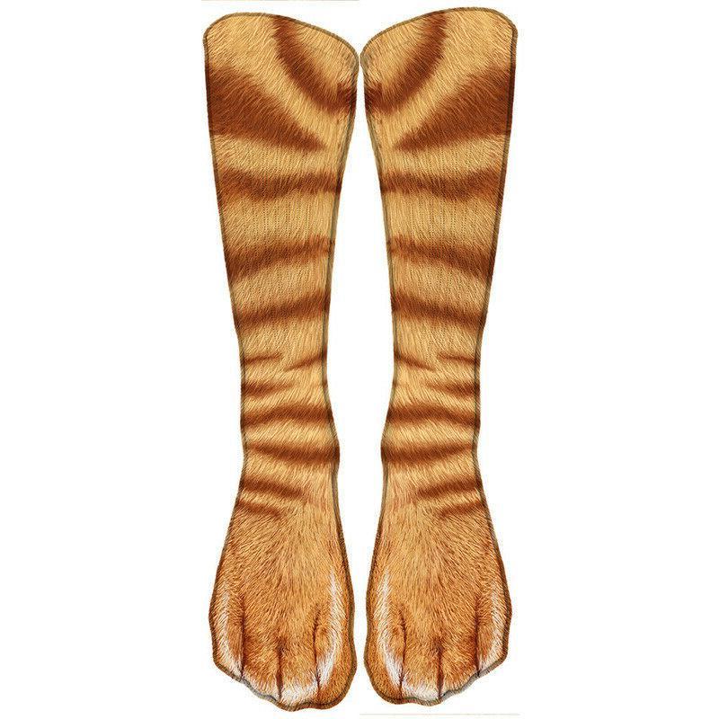 Warm Printed Animal Print Socks Xmas Crew Ankle Men