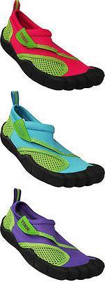 Norty Wave Childrens Sizes 11-4 Kids Slip on Aqua Socks Pool