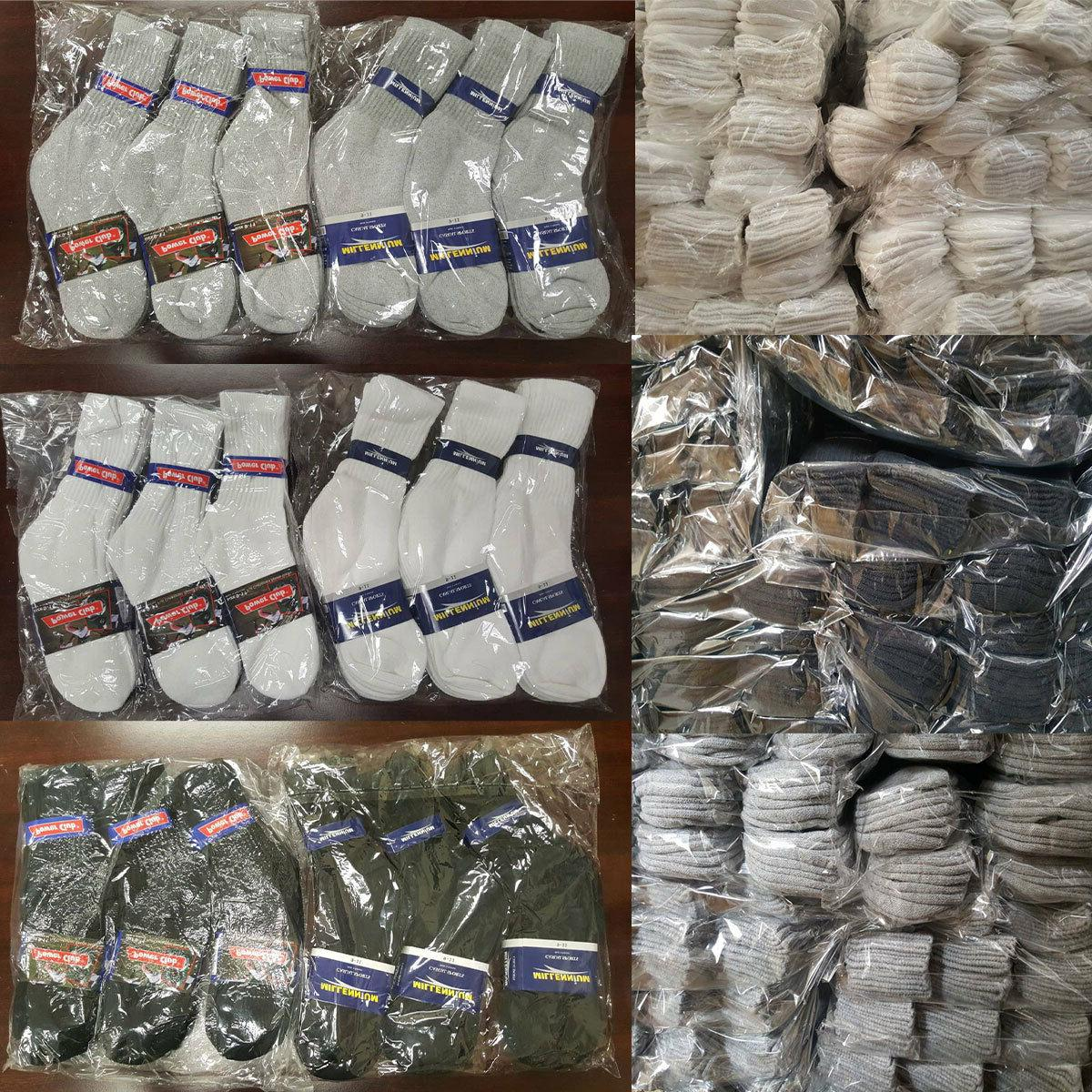 wholesale bulk lots men women crew socks