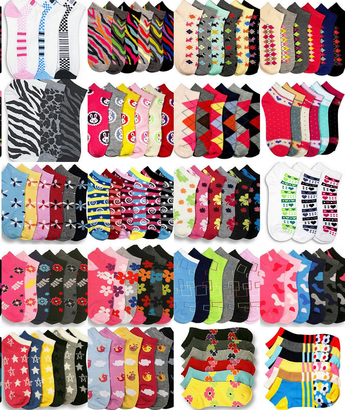 Novelty Socks Girls Sock Size 6-8 Anklet Low Cut Assorted De