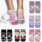 Women 3D Unicorn Print Socks Men Unisex Low Cut Funny Ankle