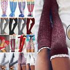 Women Crochet Knee Long Socks Lace Knit Warm Thigh High Boot