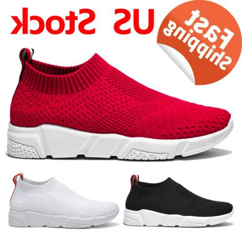 Women Casual Athletic Sport Sock Shoes Slip On Running Walki