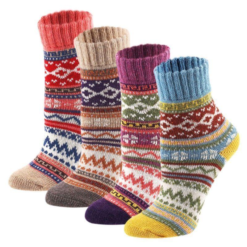 Keaza Women'S Vintage Style Cotton Knitting Wool Warm Winter