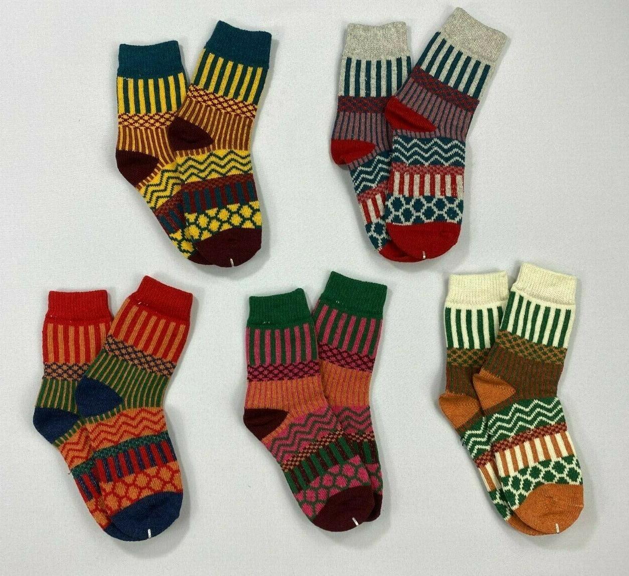 women s wool crew socks 5 pairs