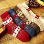Women Winter Socks Christmas Warm Wool Sock Cute Snowflake D