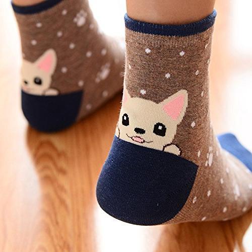 Womens Socks, Funny Cool 100% Socks Mix Color Size