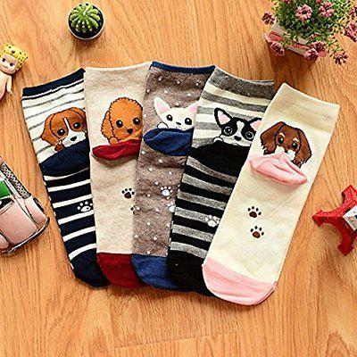 YSense Womens Animal Socks, Cotton Art Women